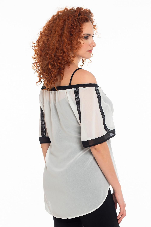 Μπλούζα με δαντέλες OSSIGENO