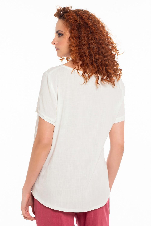 Μπλούζα με κέντημα OSSIGENO