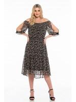 Φόρεμα με βολάν OSSIGENO