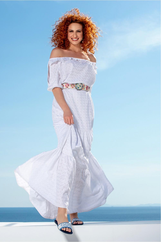 Φόρεμα με διάτρητα κεντήματα OSSIGENO